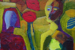 14-2012 Bonden og kvinden  (40x40) 850,-