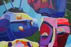 18-2012 Maskespil  (80x100) 3150,-